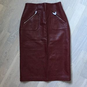 Never Worn Zara Faux Skirt with Zipper Detail.